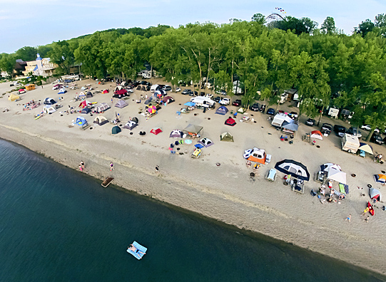 The beach at Sara's Campground, Erie, Pennsylvania.