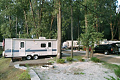 Trailer sites at Sara's Campground, Erie, Pennsylvania.